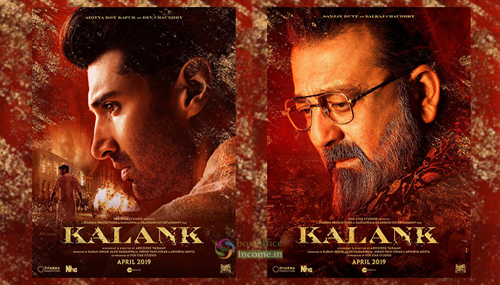Kalank Character Posters Ft.- Aditya Roy Kapur and Sanjay Dutt, Directed by Abhishek Varman!