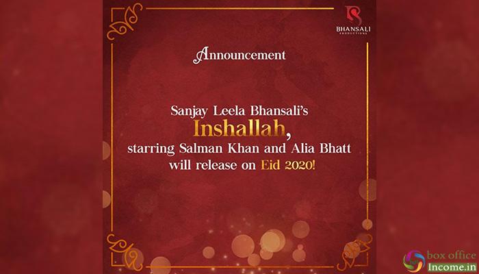 Inshallah: Sanjay Leela Bhansali has A Special Announcement For All Salman Khan Fans!