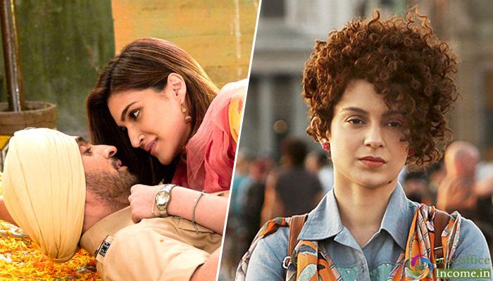 Arjun Patiala and Judgementall Hai Kya 2nd Day Collection at the Indian Box Office