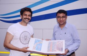 Kartik Aaryan gets customised stamps from from Hazratganj (Lucknow) Post Office!