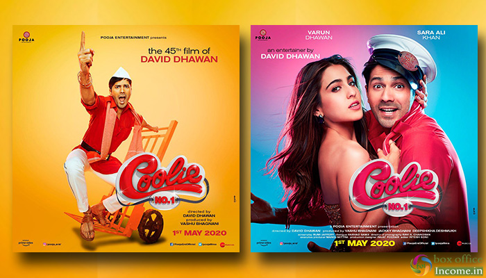 Coolie No. 1 First Look, David Dhawan's 45th Film set to Release on 1st May 2020!