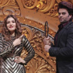 Maniesh Paul turns makeup Man for Raveena Tandon on the sets of Nach Baliye 9!