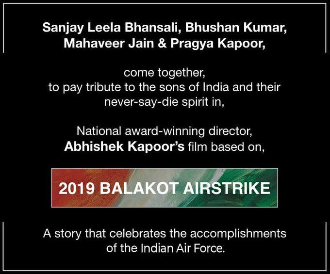 Sanjay Leela Bhansali and Bhushan Kumar to produce film on 2019 Balakot Airstrike!