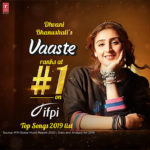 Dhvani Bhanushali's single Vaaste named as the top song of 2019 by IFPI!
