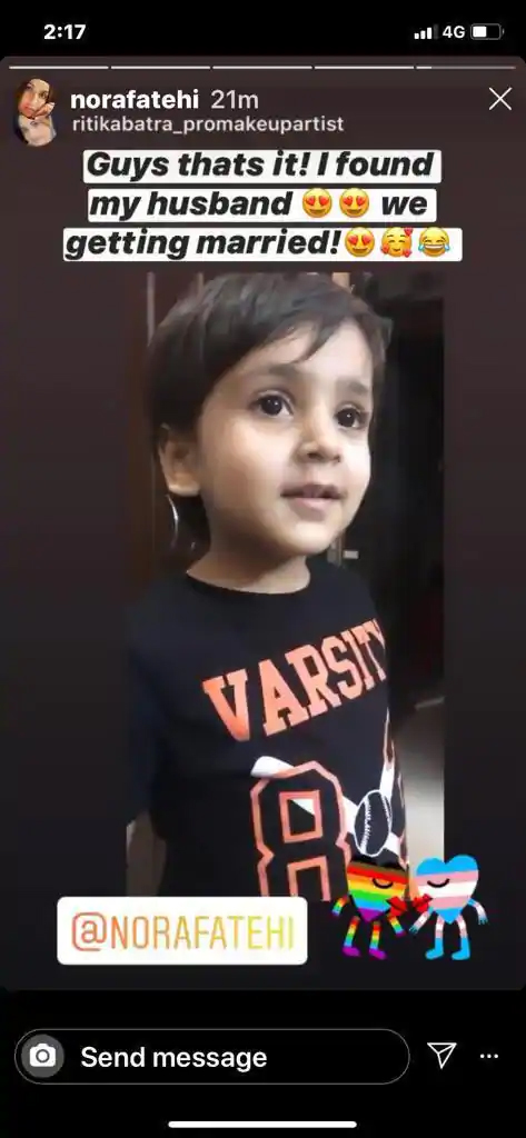 Nora Fatehi's Little Fan Wants to Marry her And She Says Yes!