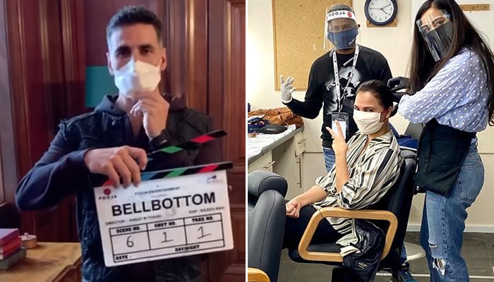 Lights, Camera, Mask on, Action! Akshay Kumar starts shoot for 'Bell Bottom' in UK