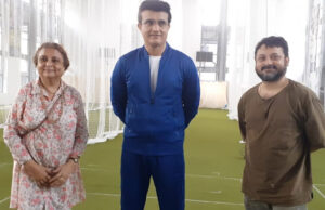 Shiboprosad Mukherjee and Nandita Roy directs Sourav Ganguly for an upcoming brand commercial