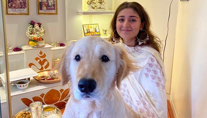 This is how Dhvani Bhanushali and her pet Leo are setting friendship goals on the Internet!