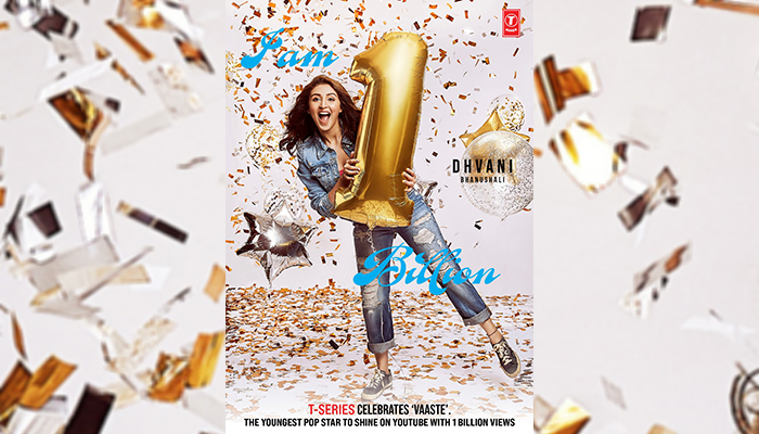 'Billionaire Baby' Dhvani Bhanushali's Song 'Vaaste' Crosses 1 Billion Mark on Youtube!