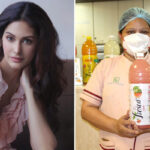 Amyra Dastur donates 10 Litres of Fresh Juice to Covid Warriors!