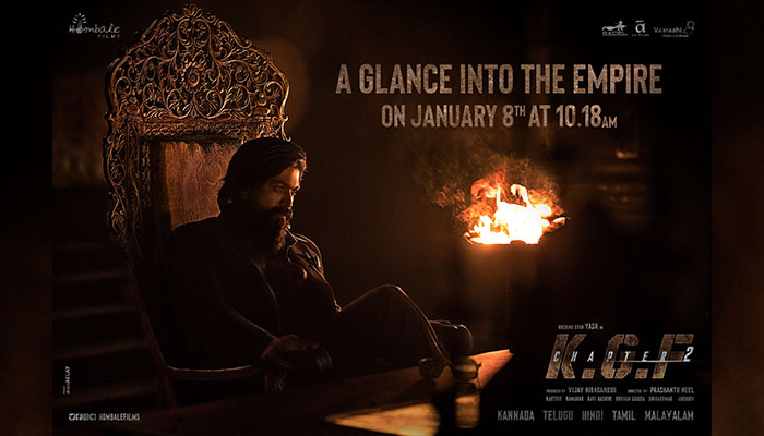 KGF Chapter 2 team announces teaser release date with new poster featuring Yash!
