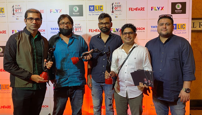 TVF's Panchayat wins four Trophies at the first-ever Filmfare OTT Awards!