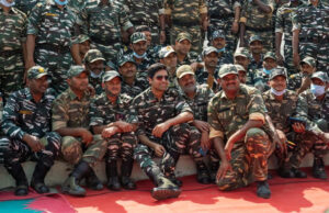 On screen Major Sandeep Unnikrishnan- Adivi Sesh celebrates Republic Day with CRPF Jawans