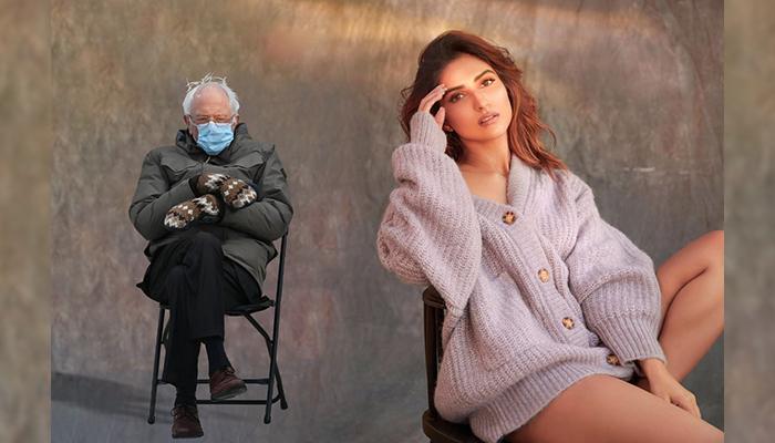 Bollywood Actress Pranutan Bahl joins the wagon, posts a 'Bernie Sanders' Meme