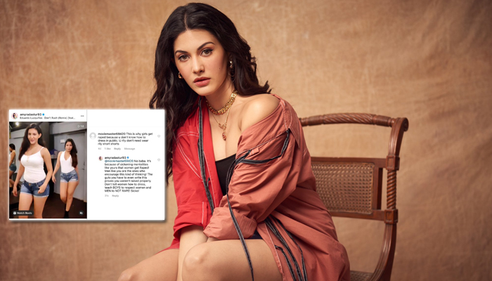 Amyra Dastur hits back at a troll who made shocking rape remarks!