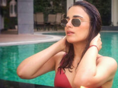 Radhika Madan is soaring the temperatures with her pool pic, but the cheeky captions grabs our attention