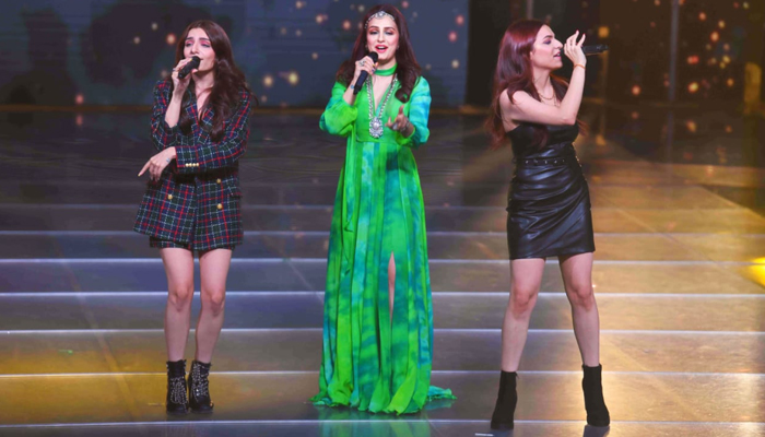 Sukriti and Prakriti's surprise entry on the sets of Indian Pro Music League leaves their sister Akriti Kakar teary eyed!