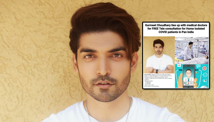 Gurmeet Choudhary ties up with young Covid Warriors (Doctors) and launches a FREE Tele-Consultation service for COVID-19 Patients