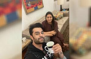 Maniesh Paul visits Smriti Irani's house, 'Thanks her for the Kaadha instead of Chai'