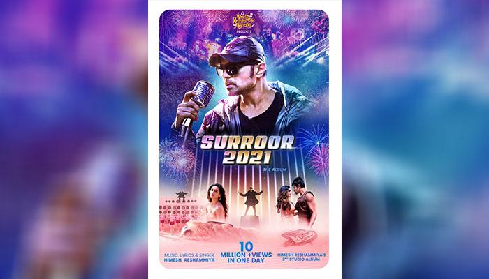 Rockstar Himesh Reshammiya's Surroor 2021 hits 10 Million Views in 24 hours!
