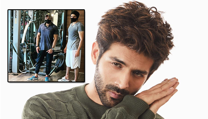 Kartik Aaryan gears up for his next film, shares post-workout pic from the gym!