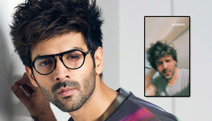 Kartik Aaryan's sexy way to wish his fans good-morning has turned up the heat on the Internet