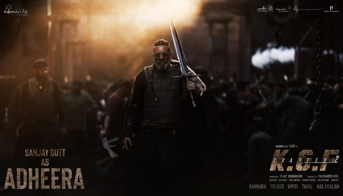 On Sanjay Dutt's Birthday, Makers of KGF: Chapter 2 unveil a New Poster featuring Actor as 'Adheera'