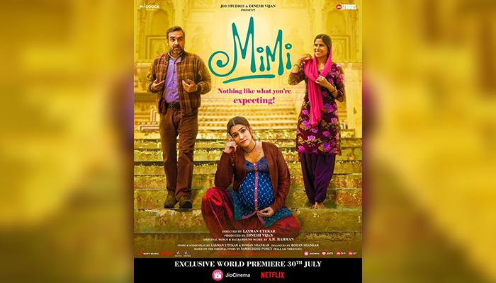 Actress Sai Tamhankar stuns alongside Pankaj Tripathi and Kriti Sanon in Mimi's New Poster