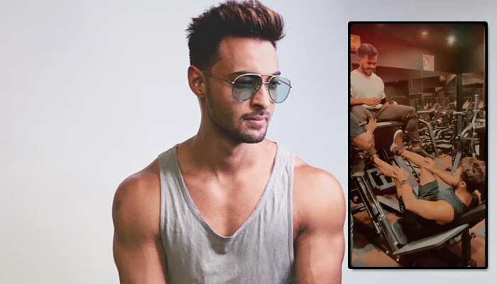 Revealing the fun behind his strenuous workout, Aayush Sharma shares a short video from the gym