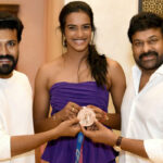 Chiranjeevi and Ram Charan hosted a star studded felicitation event for Olympic medalist PV Sindhu at their residence