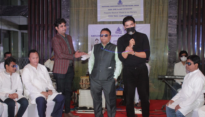 Gurmeet Choudhary celebrates Independence Day with the students from the National Association for the Blind