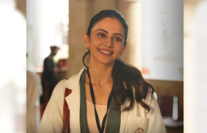 Rakul Preet Singh's first look from upcoming campus comedy-drama Doctor G!