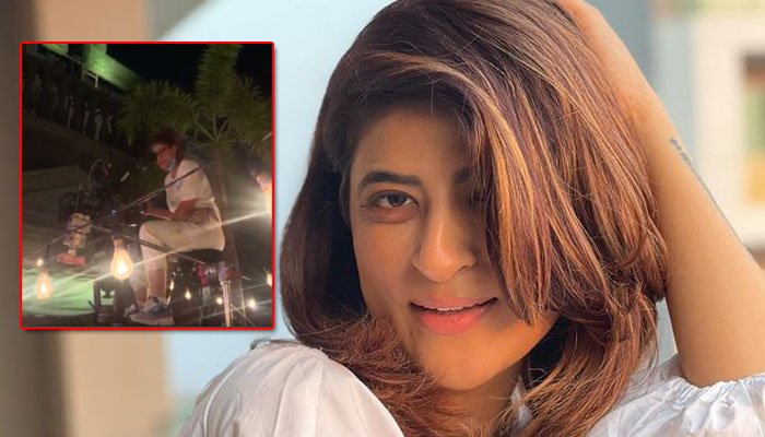 Tahira Kashyap Khurrana is 'levitating' on the sets of her Bollywood directorial debut 'Sharmaji Ki Beti'